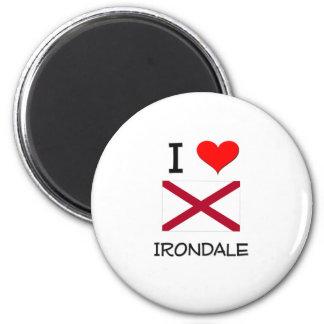 I Love IRONDALE Alabama 2 Inch Round Magnet