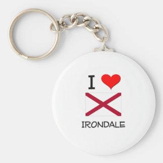 I Love IRONDALE Alabama Basic Round Button Keychain