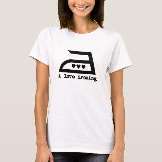I Love Ironing (3 Hearts) T-Shirt