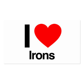 i love irons Double-Sided standard business cards (Pack of 100)