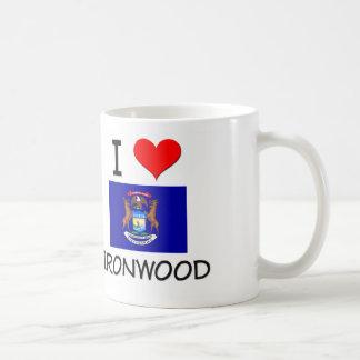 I Love Ironwood Michigan Coffee Mugs