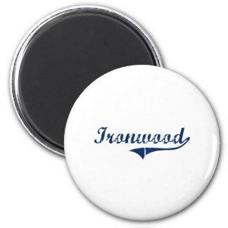 I Love Ironwood Michigan Fridge Magnets