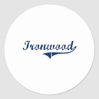 I Love Ironwood Michigan Stickers