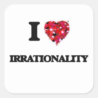 I Love Irrationality Square Sticker