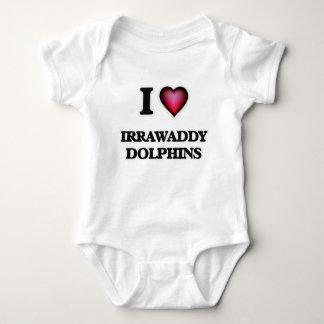 I Love Irrawaddy Dolphins Baby Bodysuit