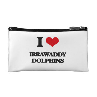 I love Irrawaddy Dolphins Cosmetic Bag
