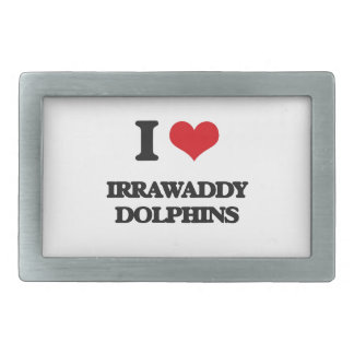 I love Irrawaddy Dolphins Rectangular Belt Buckles