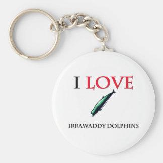 I Love Irrawaddy Dolphins Keychain