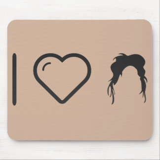 I Love Irregular Hairstyles Mouse Pad
