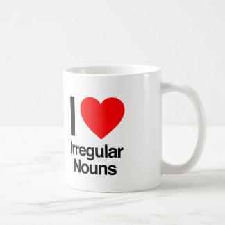 i love irregular nouns coffee mug