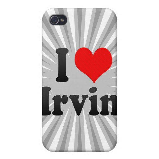 I love Irvin iPhone 4 Cover