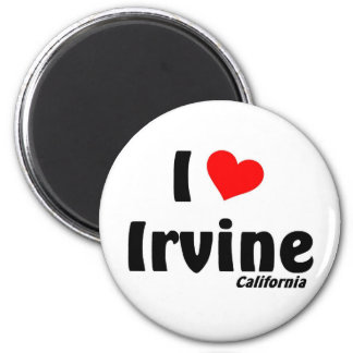 I love Irvine, California 2 Inch Round Magnet