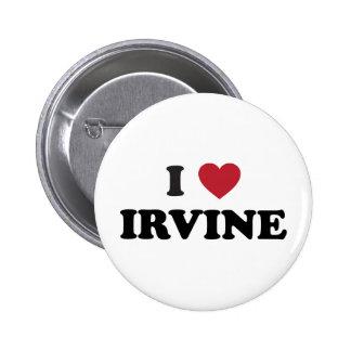 I Love Irvine California Button