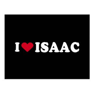 I LOVE ISAAC POSTCARD
