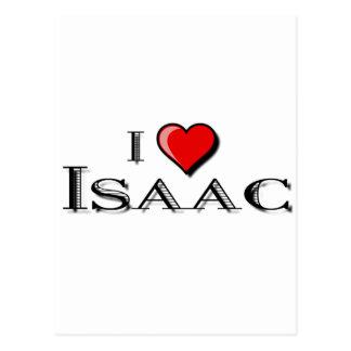 I Love Isaac Post Card