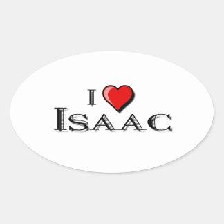 I Love Isaac Oval Sticker