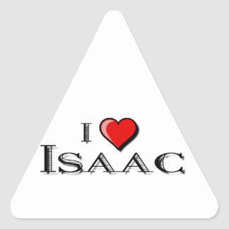 I Love Isaac Triangle Sticker