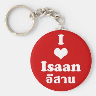 I Love Isaan ❤ Thailand Basic Round Button Keychain