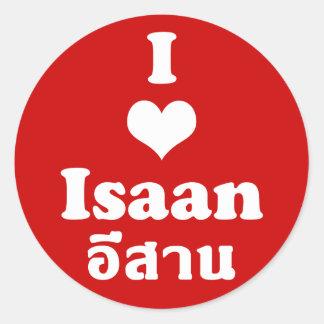 I Love Isaan ❤ Thailand Classic Round Sticker
