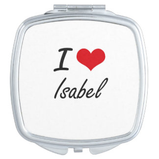 I Love Isabel artistic design Compact Mirror