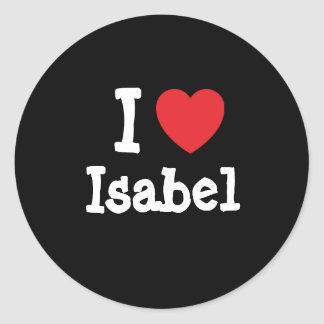 I love Isabel heart T-Shirt Stickers
