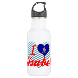 I Love Isabel, Kansas 18oz Water Bottle