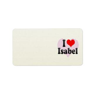 I love Isabel Address Label