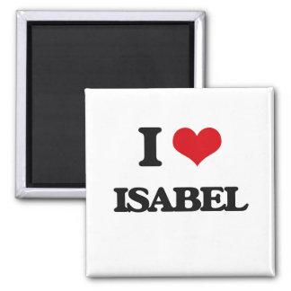 I Love Isabel 2 Inch Square Magnet