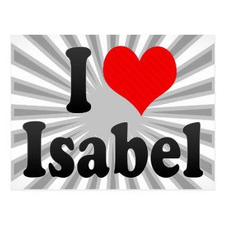 I love Isabel Postcard