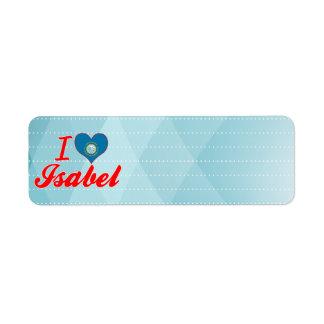 I Love Isabel, South Dakota Return Address Label