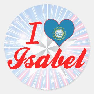 I Love Isabel South Dakota Round Stickers