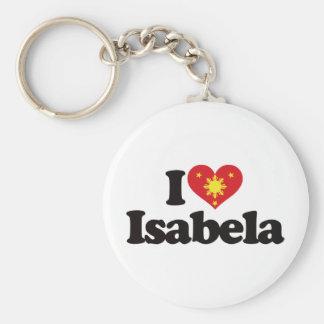 I Love Isabela Basic Round Button Keychain