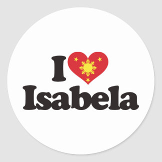 I Love Isabela Classic Round Sticker