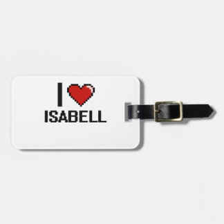 I Love Isabell Digital Retro Design Tags For Bags