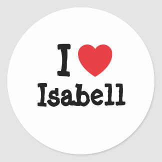 I love Isabell heart T-Shirt Stickers