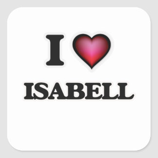 I Love Isabell Square Sticker