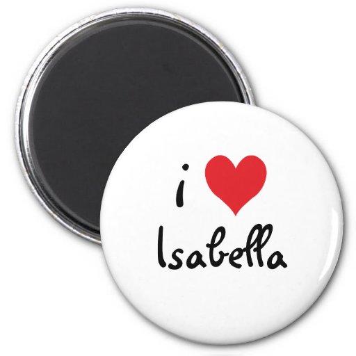 I Love Isabella 2 Inch Round Magnet