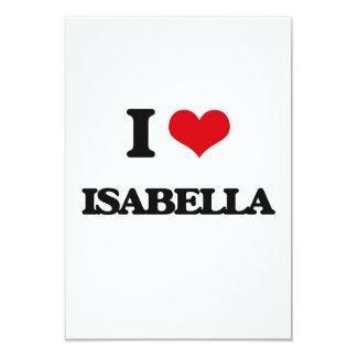 I Love Isabella 3.5x5 Paper Invitation Card