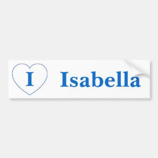 I Love Isabella Bumper Sticker