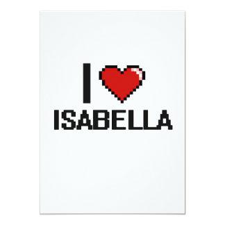 I Love Isabella Digital Retro Design 5x7 Paper Invitation Card