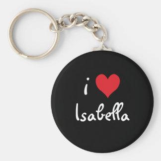 I Love Isabella Keychain