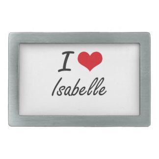 I Love Isabelle artistic design Belt Buckles