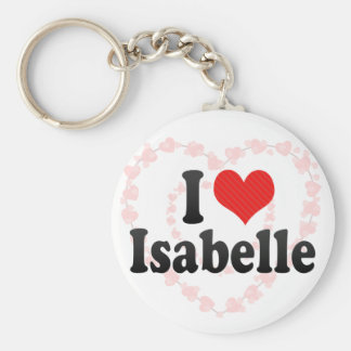 I Love Isabelle Key Chains