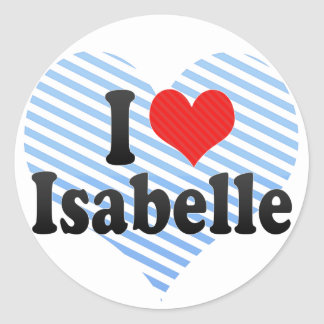 I Love Isabelle Stickers