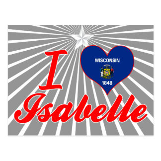 I Love Isabelle, Wisconsin Postcard