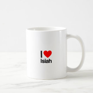 i love isiah coffee mug