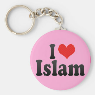 I Love Islam Basic Round Button Keychain