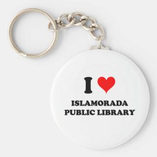 I Love Islamorada Public Library Florida Key Chain