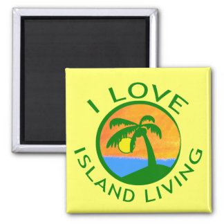 I Love Island Living Products 2 Inch Square Magnet