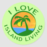 I Love Island Living Products Classic Round Sticker